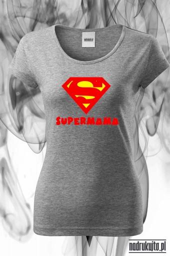 Supermama -Koszulka damska z nadrukiem