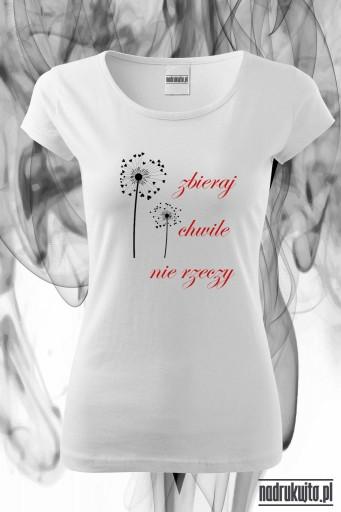 Zbieraj chwile - koszulka z nadrukiem