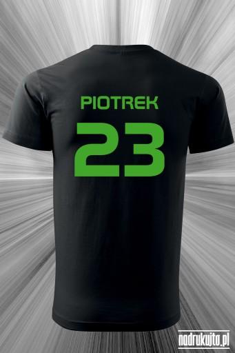 Imię i numer - koszulka dla chłopaka