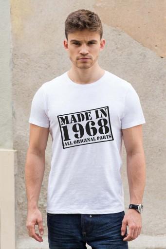 Koszulka na urodziny - MADE IN (rok urodzenia)