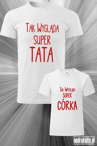 Super Tata i Super Córka - zestaw z nadrukiem